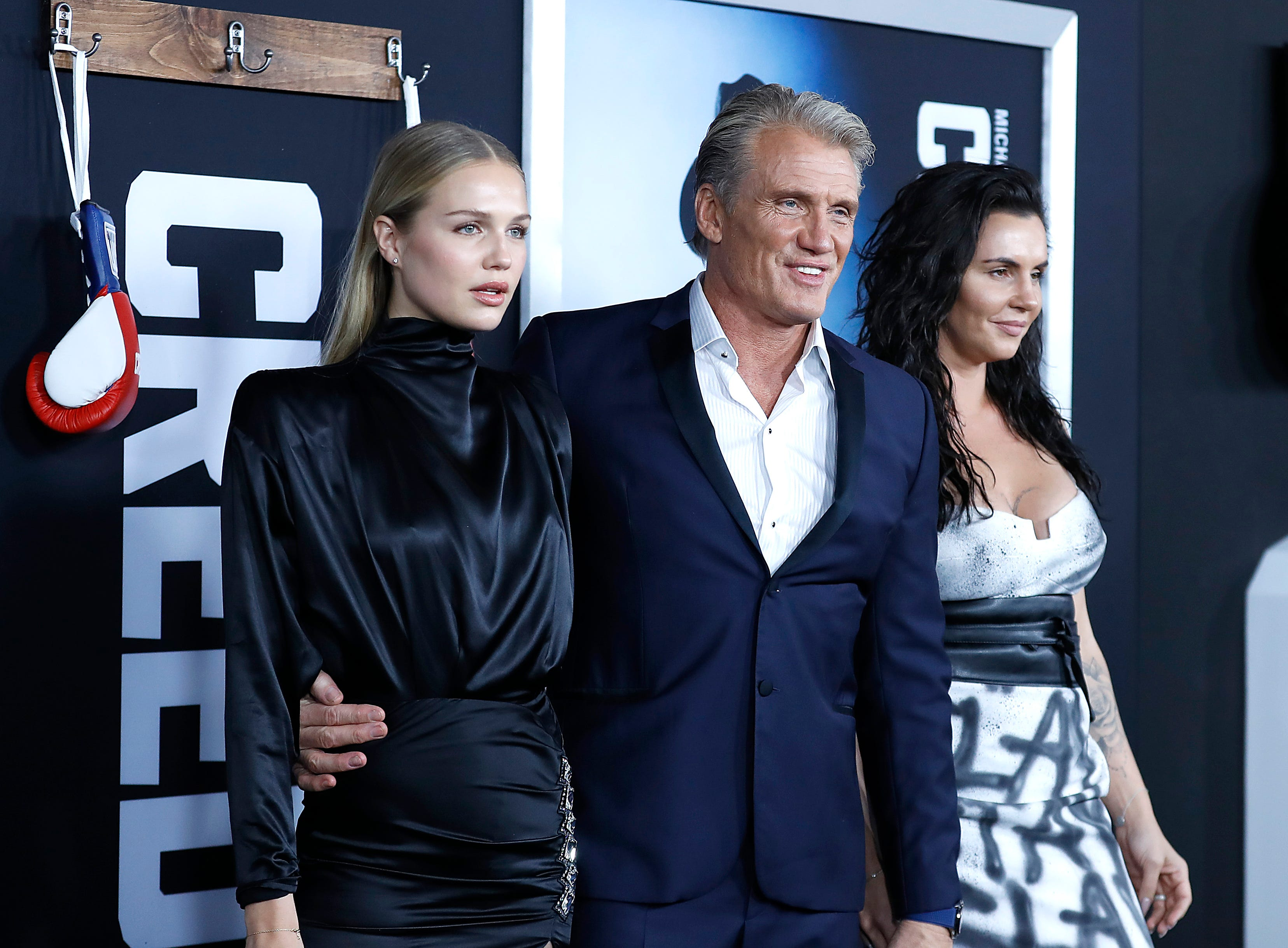 """NEW YORK, NEW YORK - NOVEMBER 14: Ida Lundgren, Dolph Lundgren, Jenny Sandersson attends """"Creed II"""" New York Premiere at AMC Loews Lincoln Square on November 14, 2018 in New York City. (Photo by John Lamparski/Getty Images) ORG XMIT: 775258752 ORIG FILE ID: 1067751696"""
