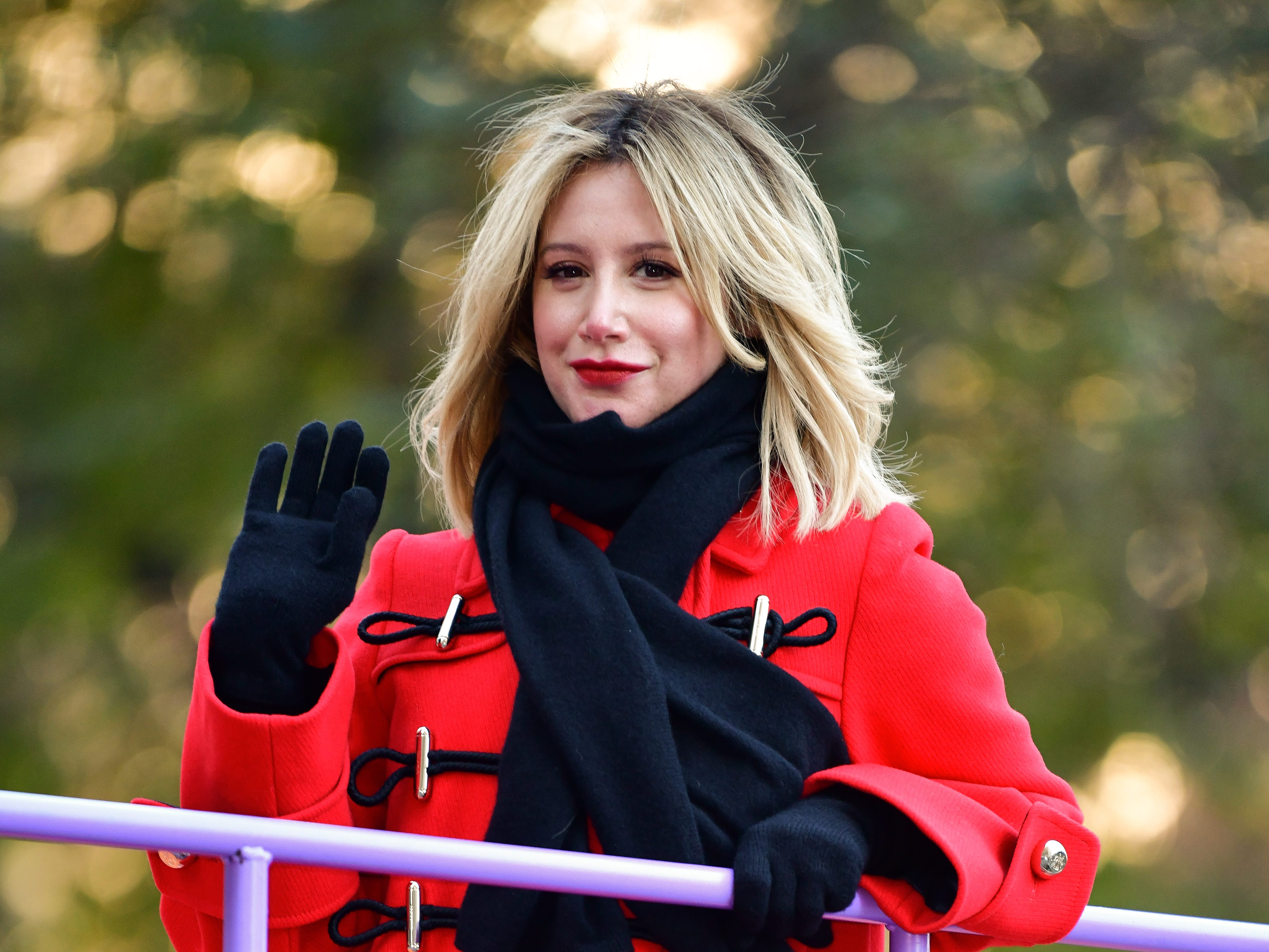 NEW YORK, NY - NOVEMBER 22:  Ashley Tisdale attends the 92nd Annual Macy's Thanksgiving Day Parade on November 22, 2018 in New York City.  (Photo by James Devaney/WireImage,) ORG XMIT: 775240086 ORIG FILE ID: 1064359328