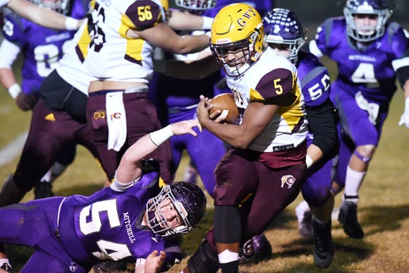 Cherokee took on Mitchell in the second round of playoffs Nov. 23, 2018.