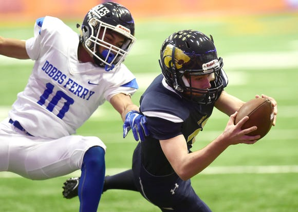 Susquehanna Valley vs. Dobbs Ferry, Class C NYSPHSAA state football final, Carrier Dome, Syracuse. Friday, November 23, 2018.