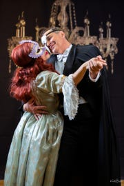 "Tina Kirkpatrick and Mino Christante perform songs from ""The Phantom of the Opera."""