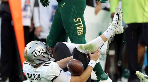 Ucf Knights Press On Possibly Without Qb Milton After Beating Usf
