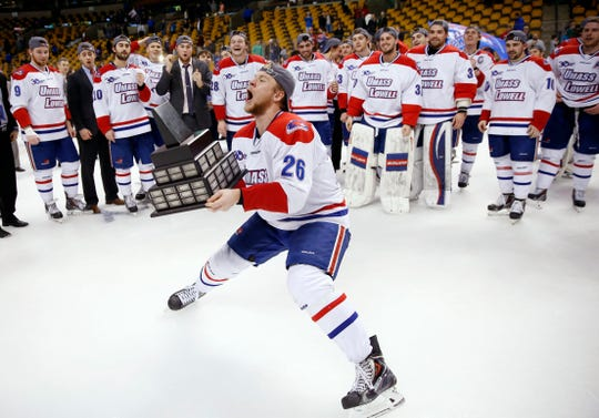 Christian Folin was a sophomore at UMass-Lowell when they won the Hockey East championship in 2014.