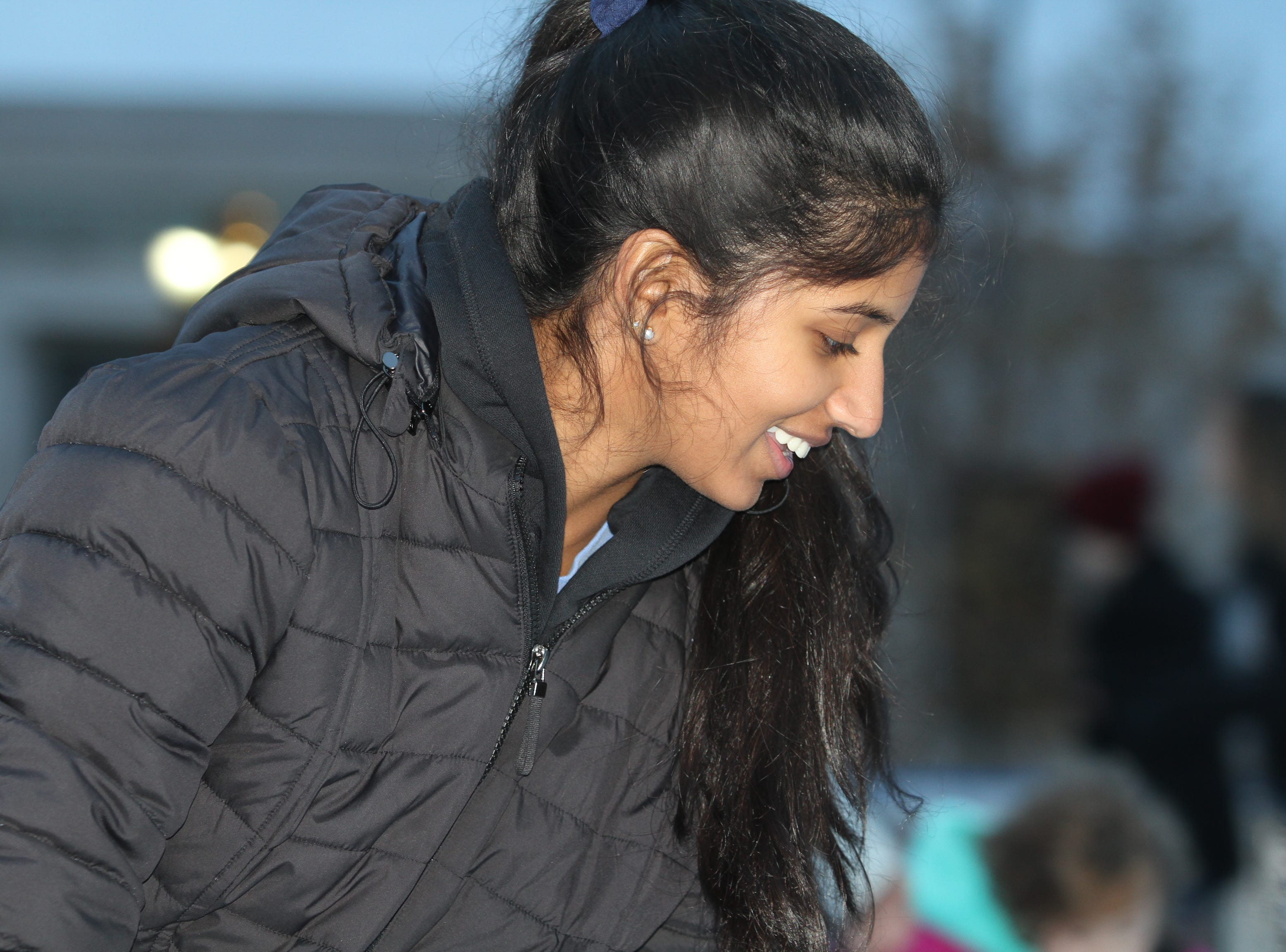 Keerthana Kasetty at the Downtown Commons Winter Ice Rink opening on Friday, Nov. 23, 2018.