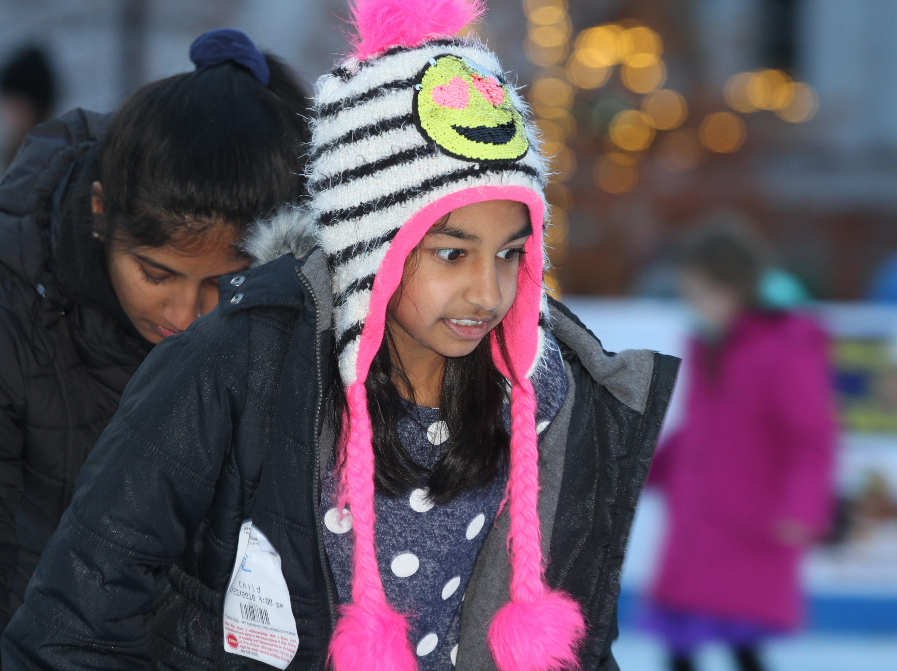 Vaanya Modalla at the Downtown Commons Winter Ice Rink opening on Friday, Nov. 23, 2018.
