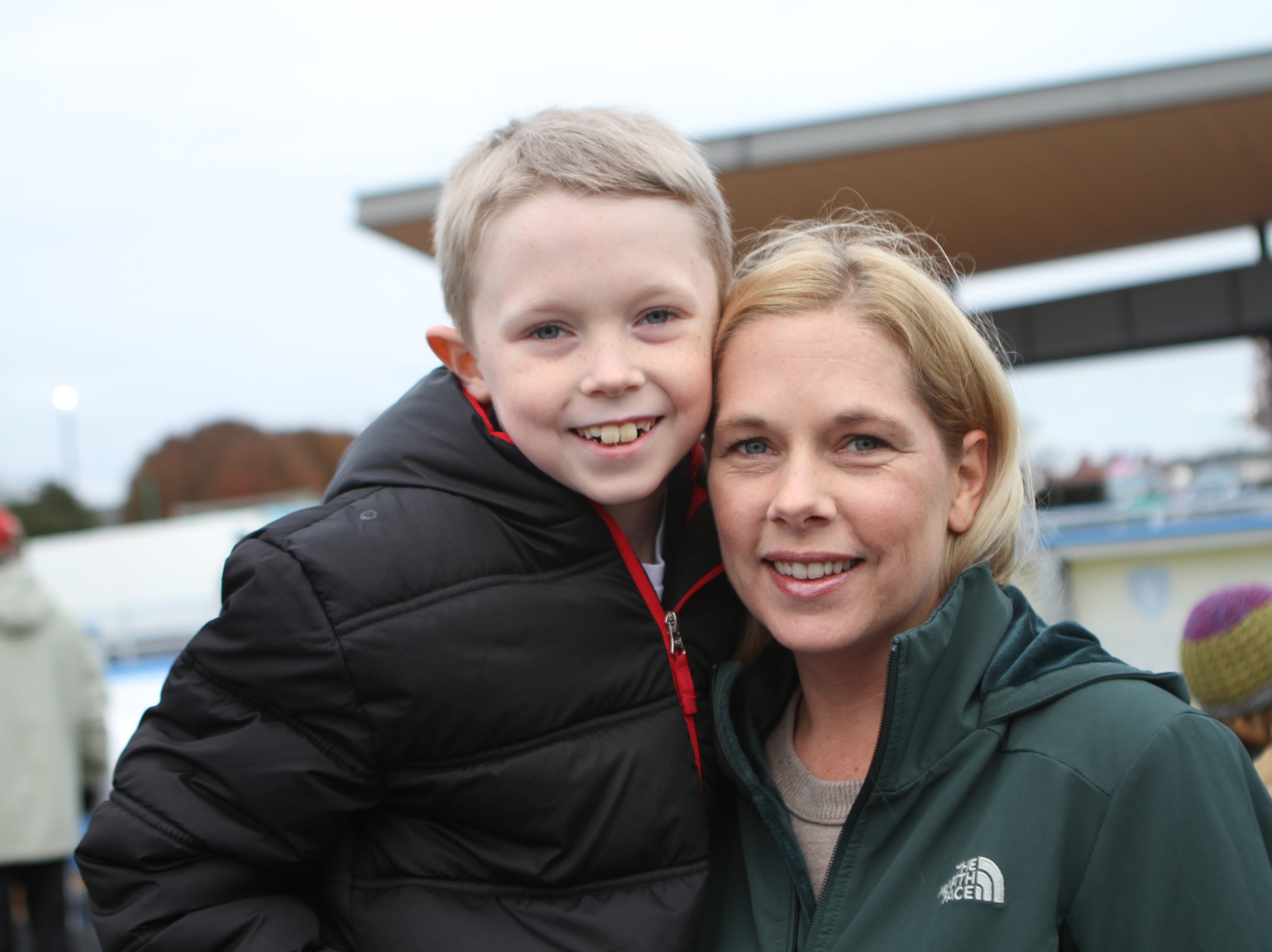 Mikey and Jamie McAdaragh at the Downtown Commons Winter Ice Rink opening on Friday, Nov. 23, 2018.