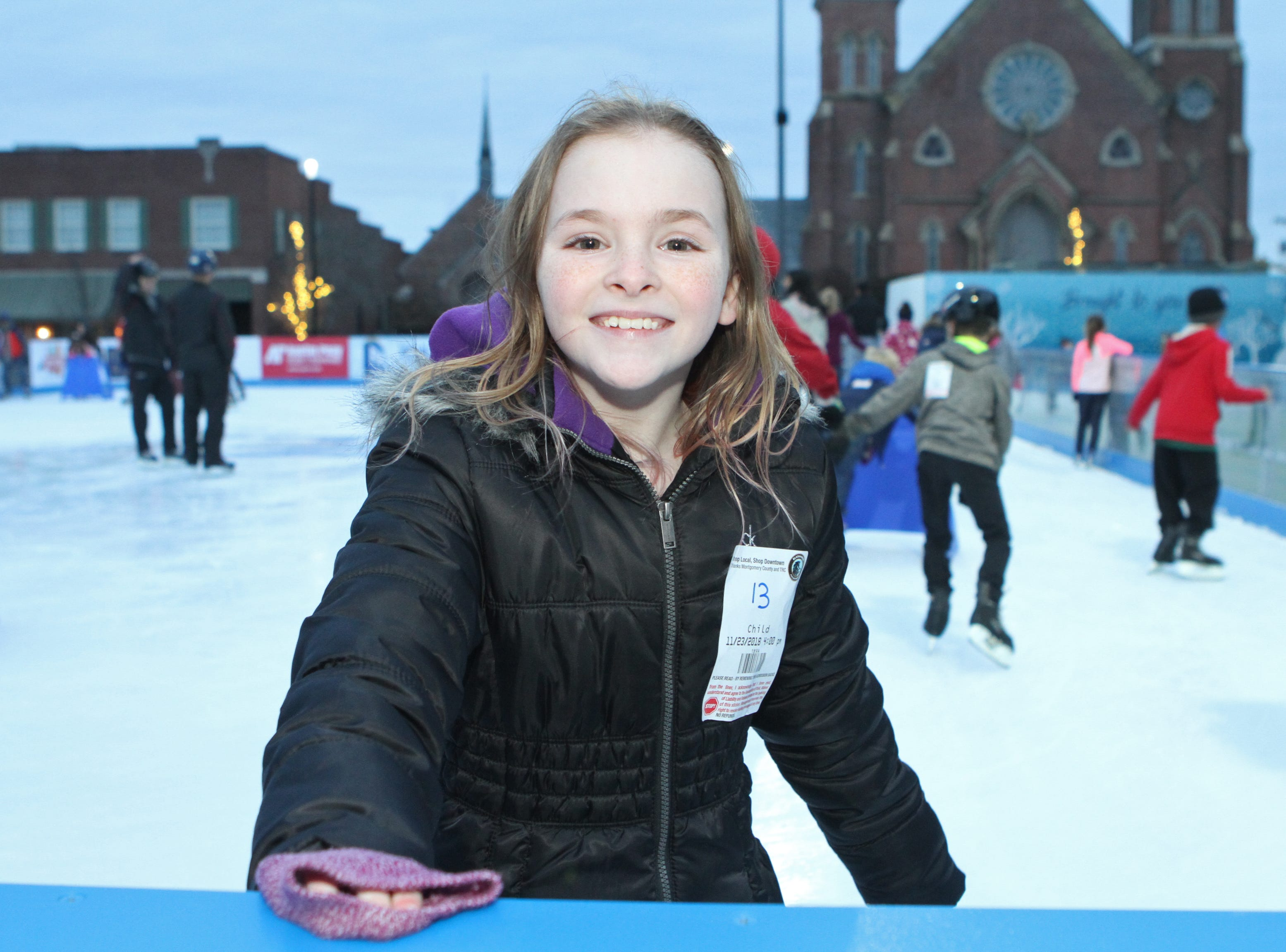 Breanna Delacy at the Downtown Commons Winter Ice Rink opening on Friday, Nov. 23, 2018.