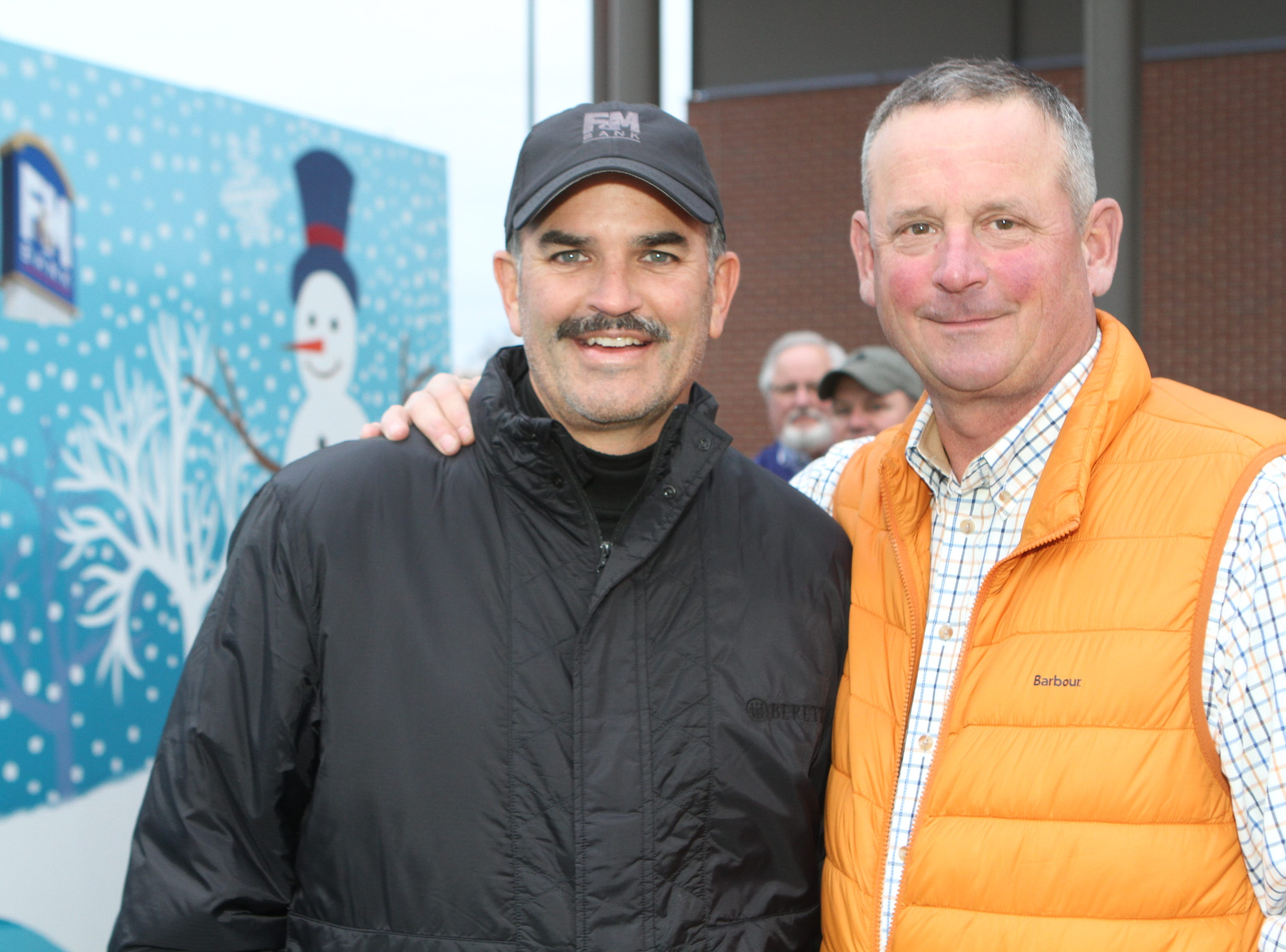 Charlie Koon and Montgomery County Mayor Jim Durrett at the Downtown Commons Winter Ice Rink opening on Friday, Nov. 23, 2018.