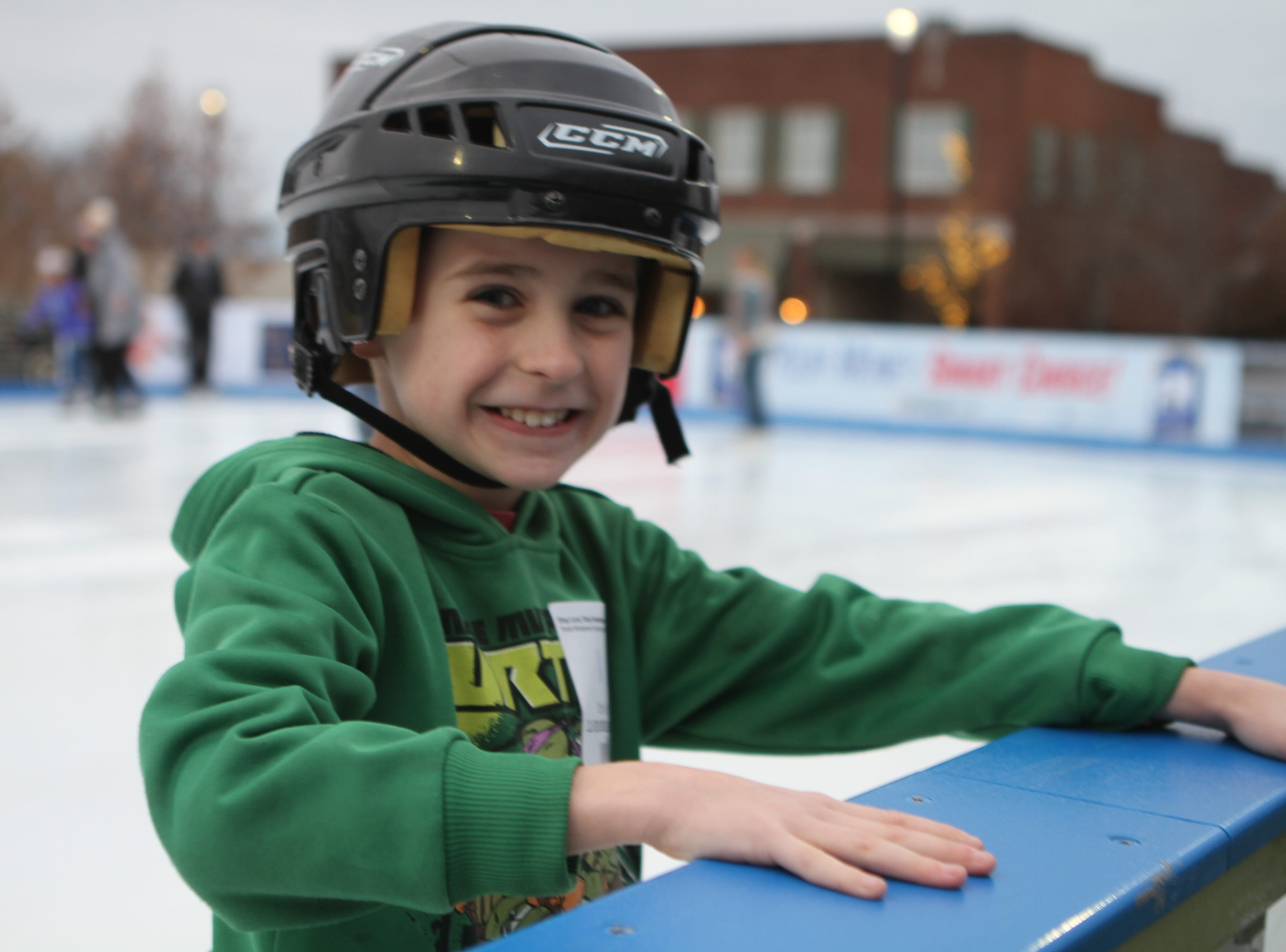 Noah Rackard at the Downtown Commons Winter Ice Rink opening on Friday, Nov. 23, 2018.