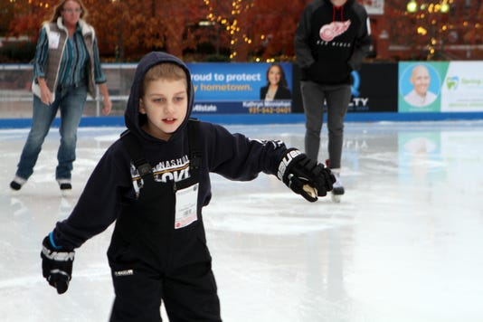 David Trythall Was The First Person To Hit The Ice On Opening Day At The Downtown Commons Winter Ice Rink