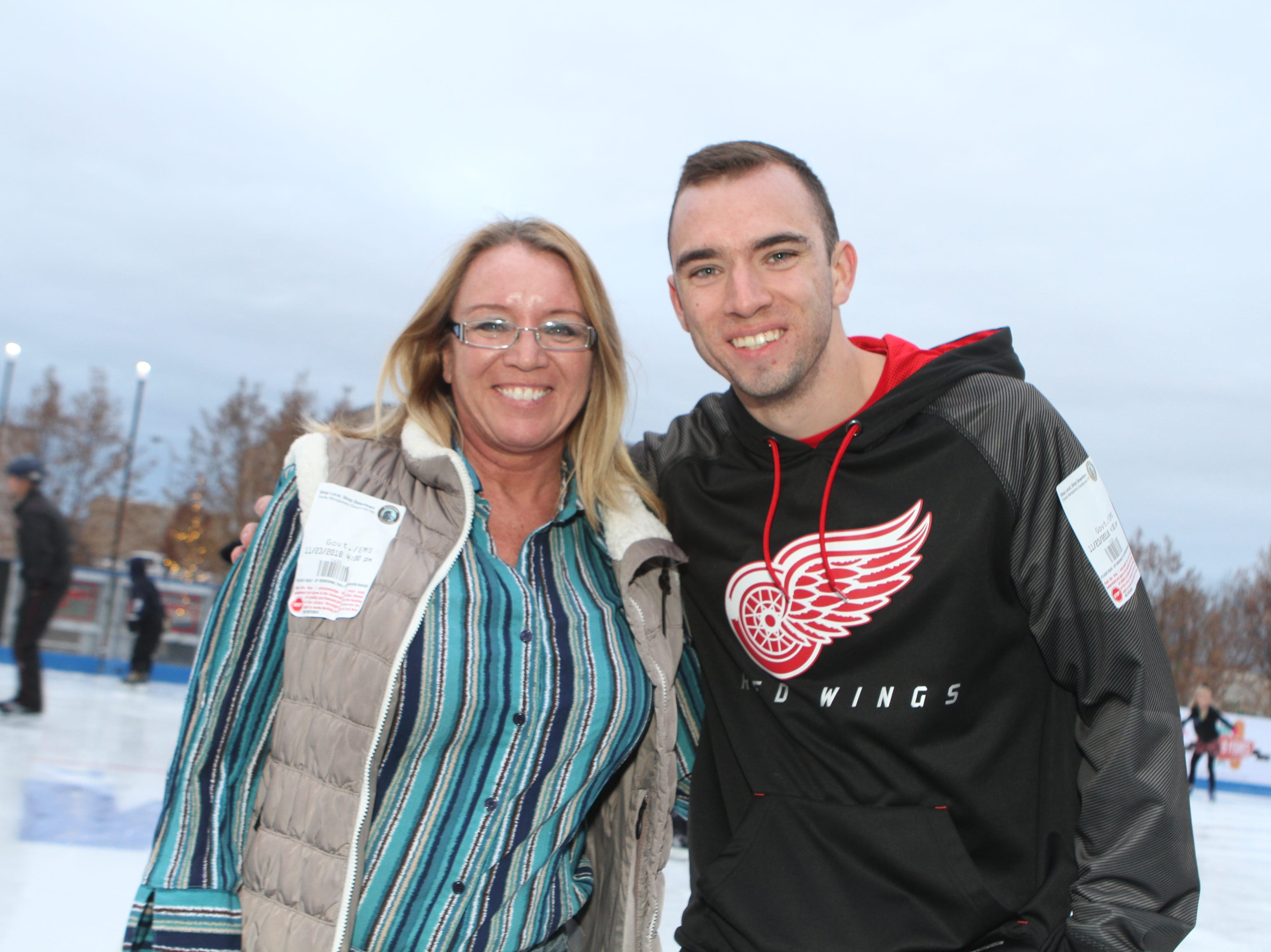 Melissa and Nicholas King at the Downtown Commons Winter Ice Rink opening on Friday, Nov. 23, 2018.