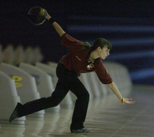Amanda Small showing off her Bowler of the Year form in high school