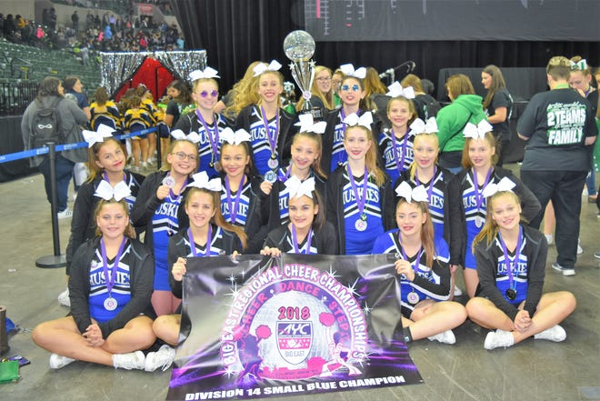 All three Huskies cheer teams earned a qualifying spot for the 2018 American Youth Cheer National Championships and will perform for the AYC National Champion title.