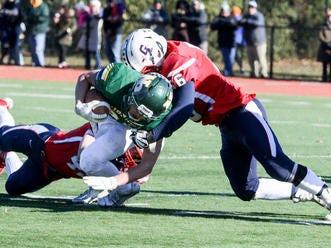 Gov. Livingston vs. New Providence football during the first half on Thursday, Nov. 22, 2018 at New Providence High School.