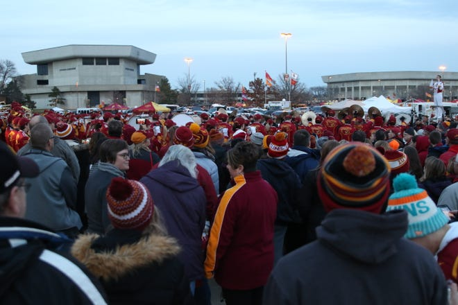 Iowa State fans were out in full force Saturday in Ames before the Cyclones played their final home game of the season against rival Kansas State.