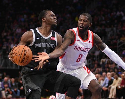 Nba Houston Rockets At Detroit Pistons