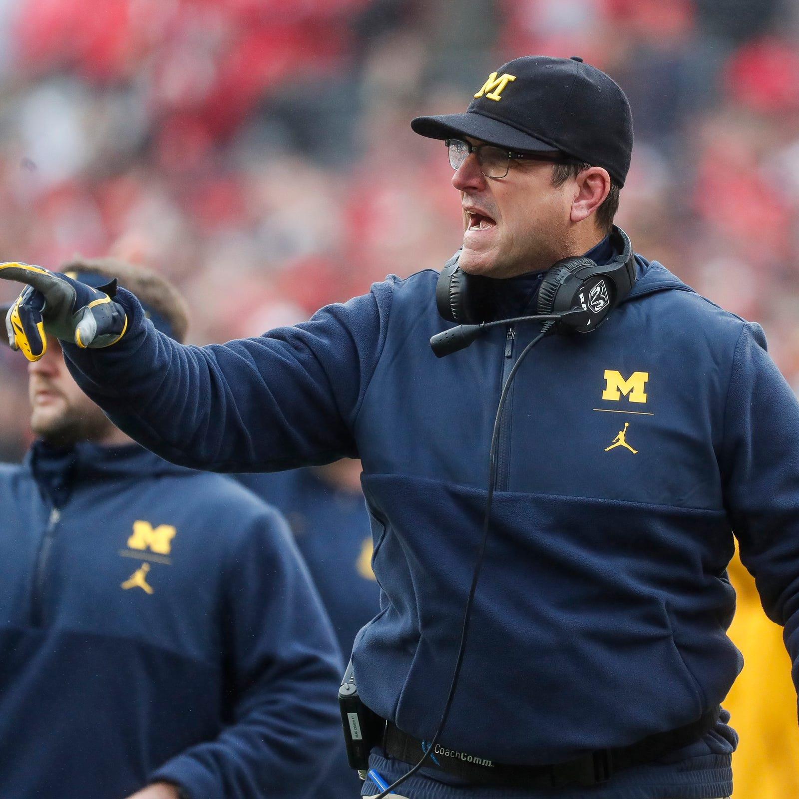 Michigan football faces real pressure and Jim Harbaugh is fired up for it