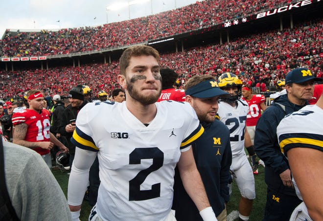 A Rose Bowl invite might help erase the sour taste of Saturday's 62-39 humbling defeat to Ohio State for quarterback Shea Patterson and his Michigan teammates.
