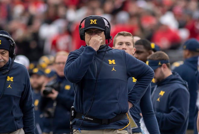 Jim Harbaugh couldn't deny it, Michigan stunk on Saturday.