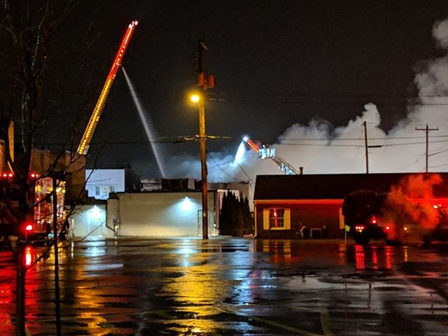 Crews responded to a fire in the 100 block of High Avenue in Oshkosh on Nov. 24. Crews had to put out the fire externally due to dangerous interior conditions. This picture was taken from Algoma Boulevard and Division Street.