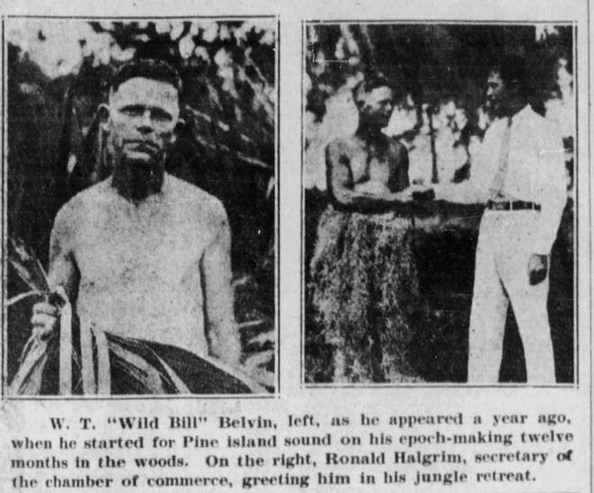 "Photos about ""Wild Bill"" Belvin's exploits  appeared in The News-Press on Oct. 15, 1931."