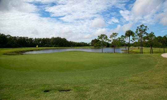 The 12th hole at Eastwood Golf Course in Fort Myers is a par 5.