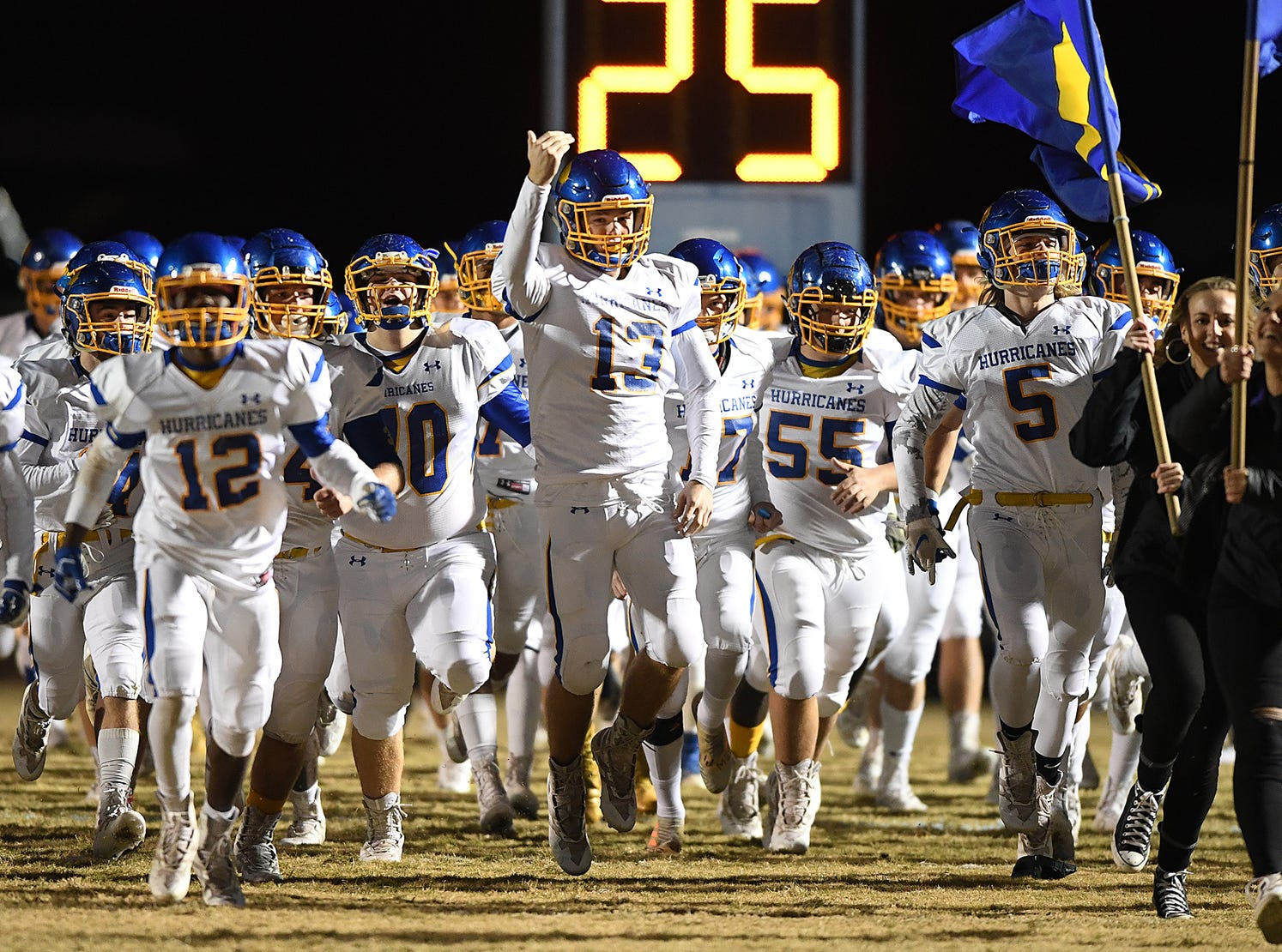 Daniel hosts Wren during the third round of the class AAAA playoffs Friday, November 23, 2018, at Daniel High in Central.