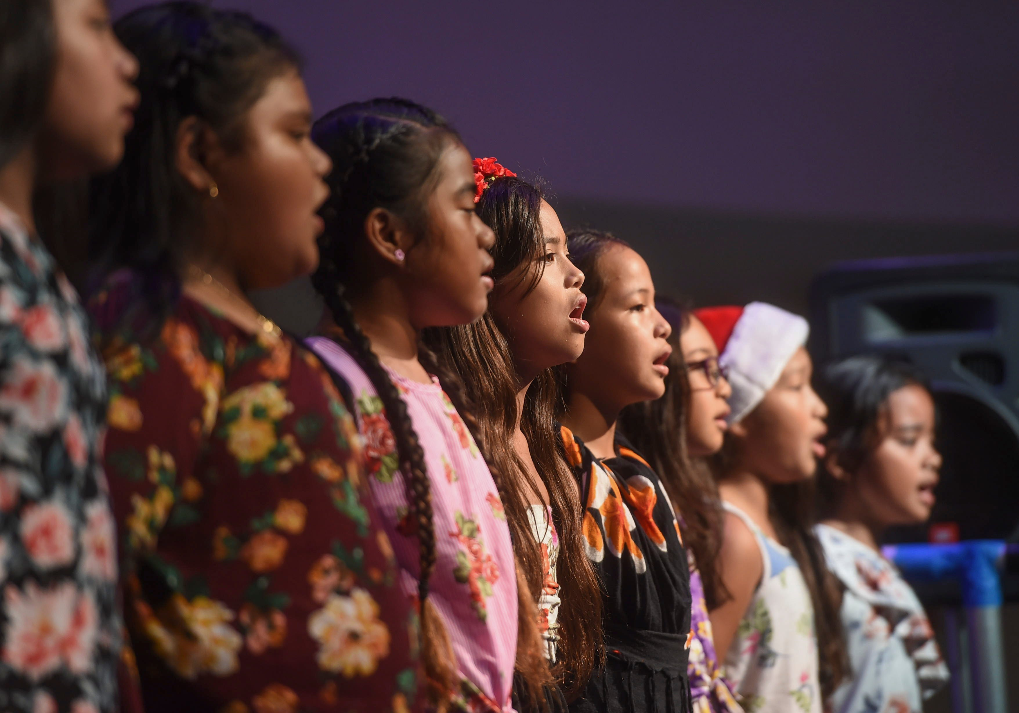 The C.L. Taitano Elementary School Deerlings perform during the sixth annual Guam Chamber of Commerce Song Festival at Agana Shopping Center on Nov. 24, 2018.