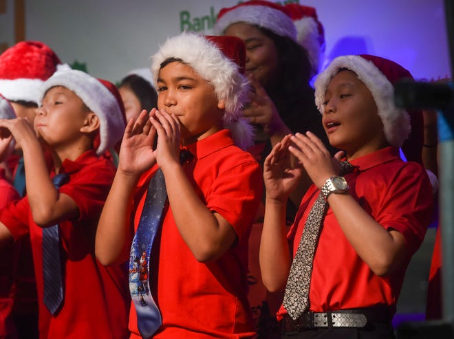 A Christmas performance by Bishop Baumgartner Middle School during the sixth annual Guam Chamber of Commerce Song Festival at Agana Shopping Center on Nov. 24, 2018.