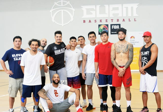 Guam's men's national basketball team is ready for the 2018 FIBA Asia Cup Qualifier in Thailand, happening Nov. 26-Dec. 1. Pictured standing, from left: manager Danny Payumo,  JP Cruz, head coach E.J. Calvo, Willie Stinnett, AJ Carlos, Billy Belger, Chris Conner, Earvin Jose, Daren Hechanova and assistant coach Jin Han. Seated is Curtis Washington. Not shown: brothers Mekeli, Tai and Russ Wesley; and Earnest Ross.