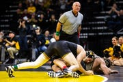 Iowa's Mitch Bowman boasts a career record of 30-21 entering this weekend's Midlands Championships.
