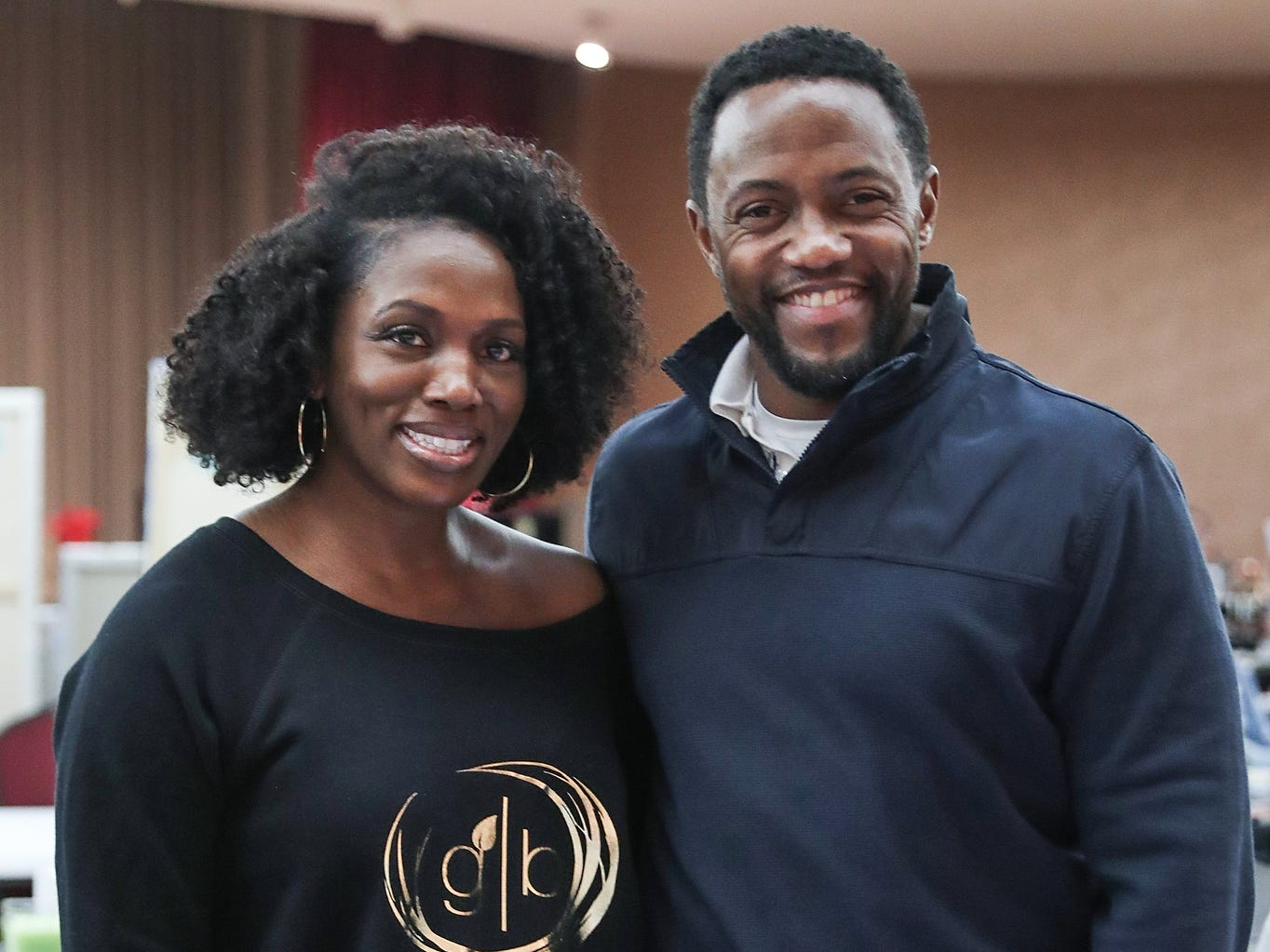 Marla and James Lewis, of Carmel, sell their Grow Bar Organics hair and beard care products at a market showcasing more than 65 women and minority-owned small businesses at the Murat Shrine Temple in Indianapolis, Saturday, Nov. 24, 2018. The fifth annual event is part of Small Business Saturday, launched nationally by American Express eight years ago to help independently owned businesses bounce back from the recession.