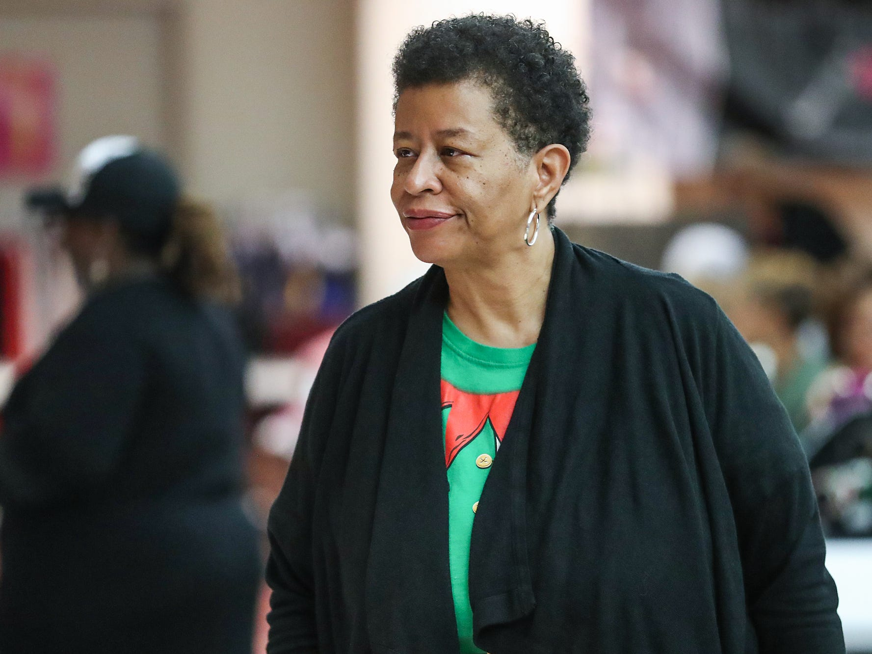 """Jerilyn Lewis and her three sisters began a market to showcase women and minority-owned small businesses five years ago for Small Business Saturday, held this year at the Murat Shrine Temple in Indianapolis, Saturday, Nov. 24, 2018. """"We are women, and we are minorities, so we thought this would be an opportunity not only for us, but for others that were like us,"""" Lewis said.Ê""""It's important that women and minorities have an outlet, have the venue.ÊAnd that's why we did it."""""""