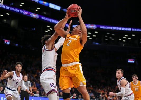 Ncaa Basketball Nit Season Tip Off Tennessee Vs Kansas