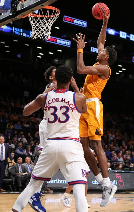 Ncaa Basketball Nit Season Tip Off Tennessee Vs Kansas