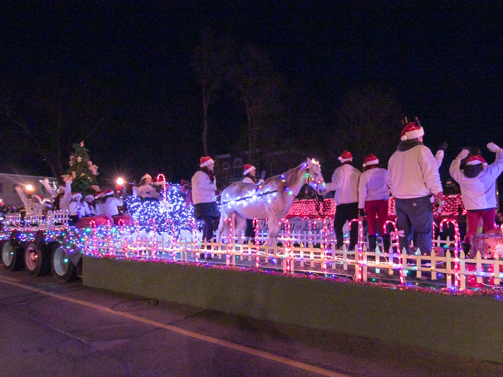 The Fantasy of Lights Grand Marshal award went to the entry by the Brighton Equestrian Club Friday, Nov. 23, 2018.