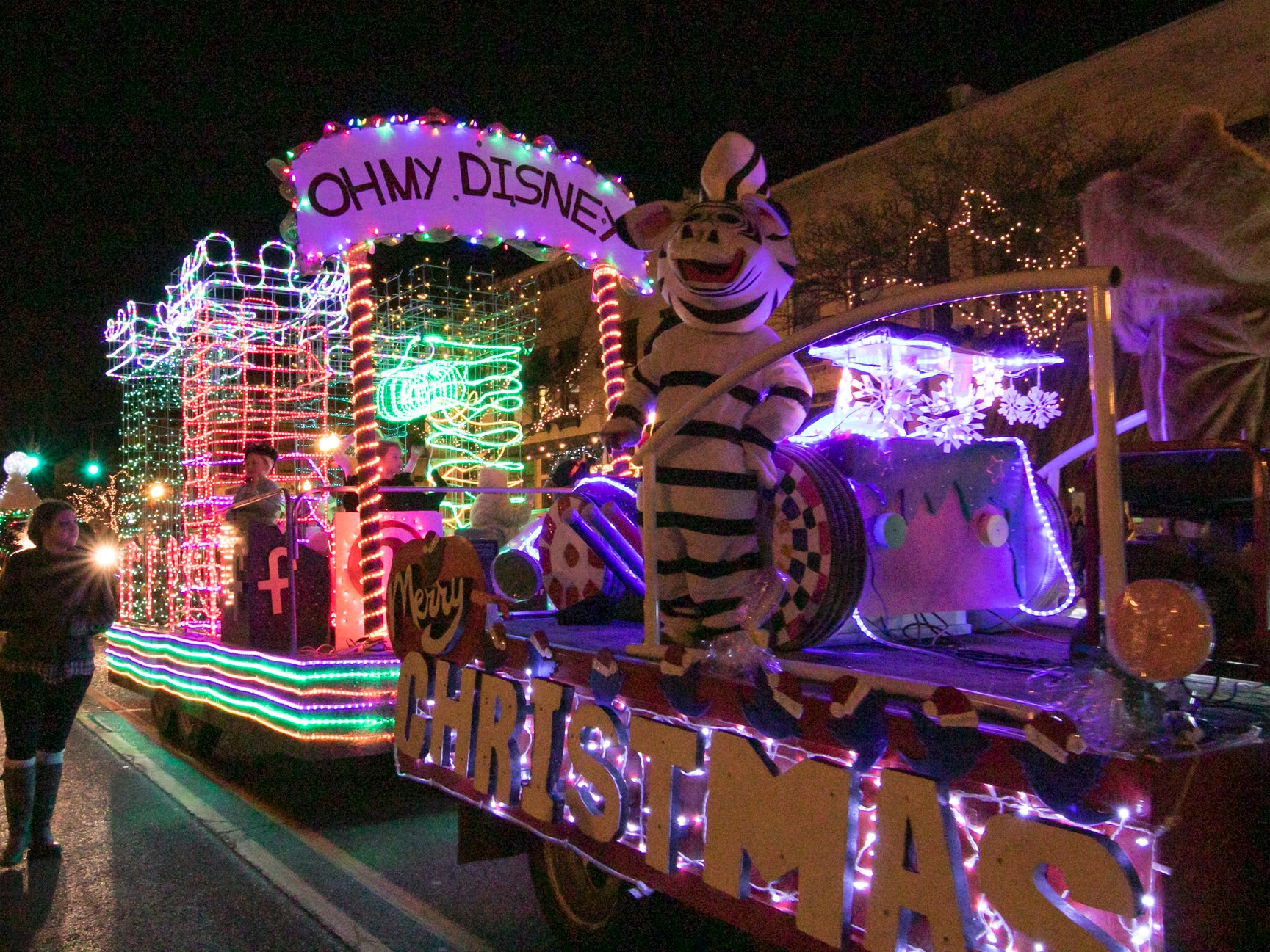 The Mayor's Choice award goes to this float in the Fantasy of Lights parade Friday, Nov. 23, 2018.