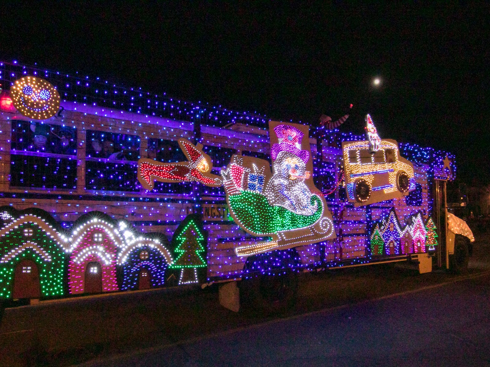 This decorated schoolbus won the Razzle Dazzle award in the Fantasy of Lights parade Friday, Nov. 23, 2018.