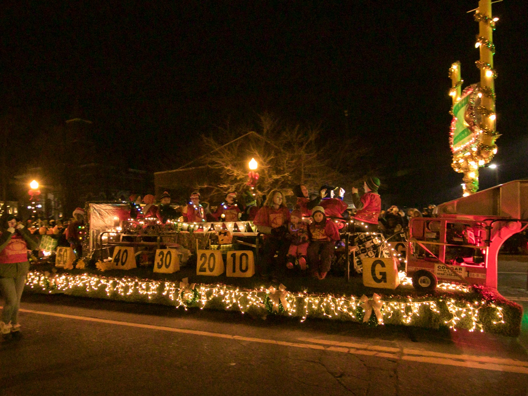 An entry by the Howell Junior Football squad took the Parade Committee Award in the Fantasy of Lights parade Friday, Nov. 23, 2018.