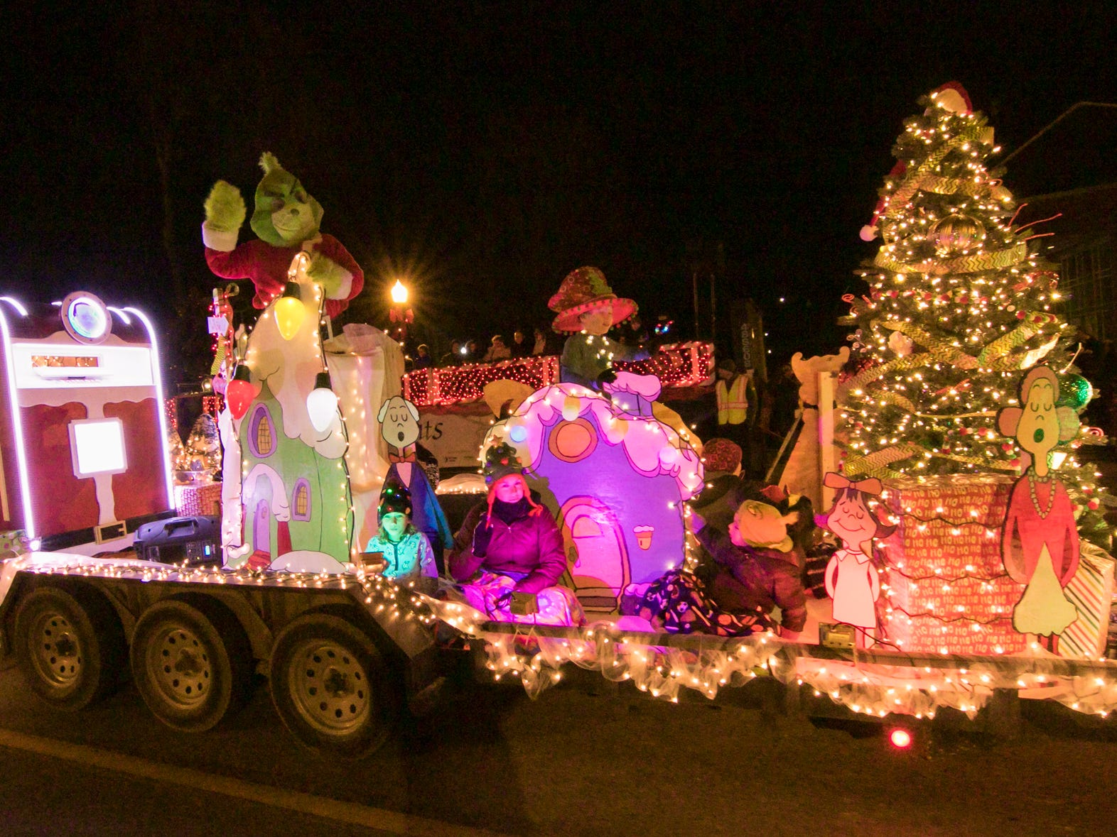 The Howell Parks and Recreation Authority float in the Fantasy of Lights parade Friday, Nov. 23, 2018.
