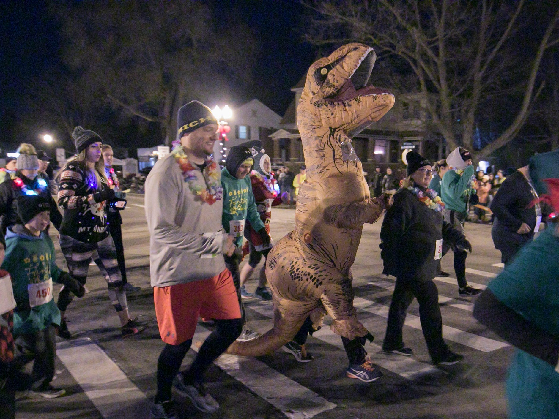 Donning lights or a costume is the norm in running the Fantasy 5k, held Friday, Nov. 23, 2018.