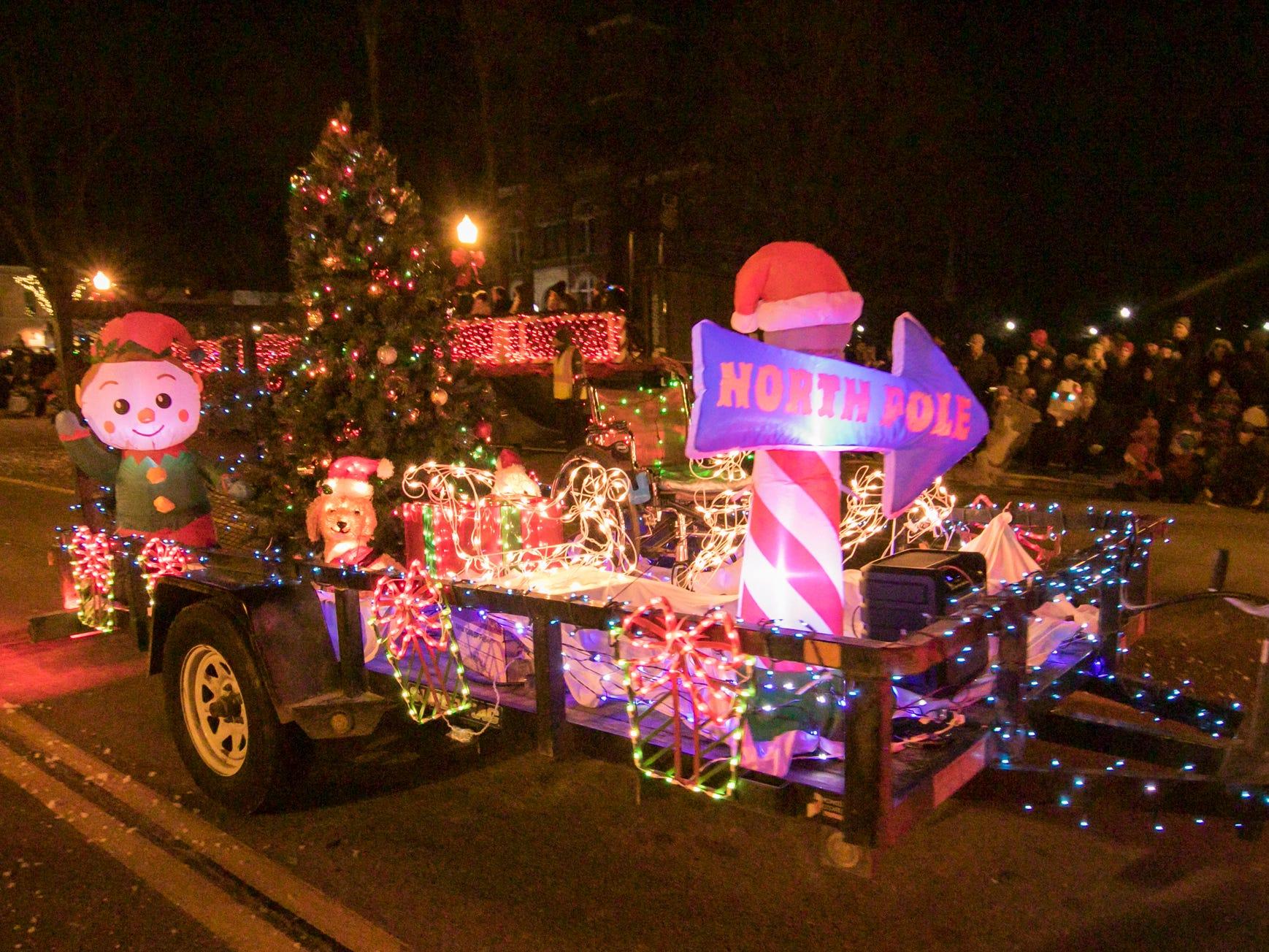 The Medilodge of Livingston float in the Fantasy of Lights parade Friday, Nov. 23, 2018.