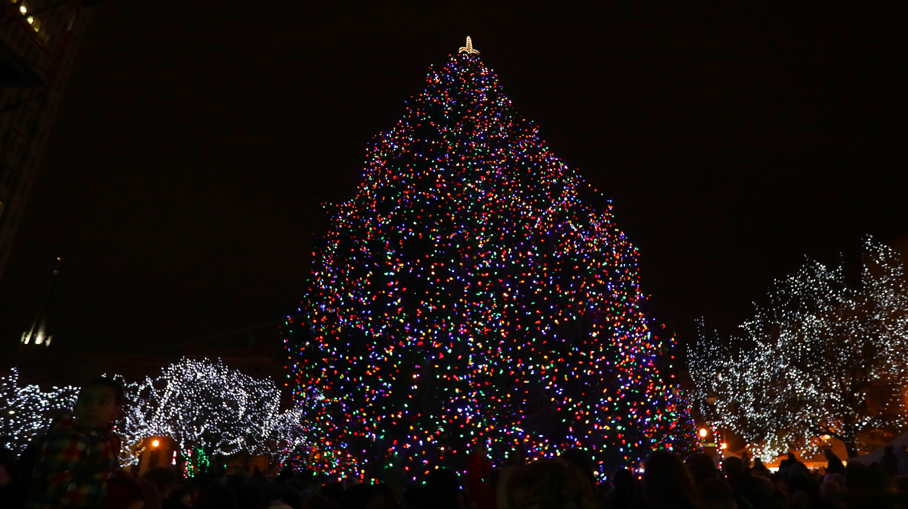 louisville christmas events tree lightings on saturday