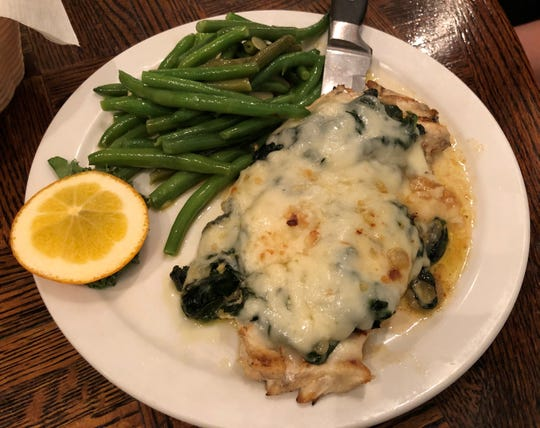 Chicken Florentine from Kretch's, Marco Island.