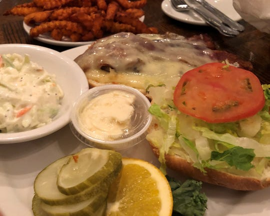 The chicken club platter with sweet potato fries from Kretch's, Marco Island.