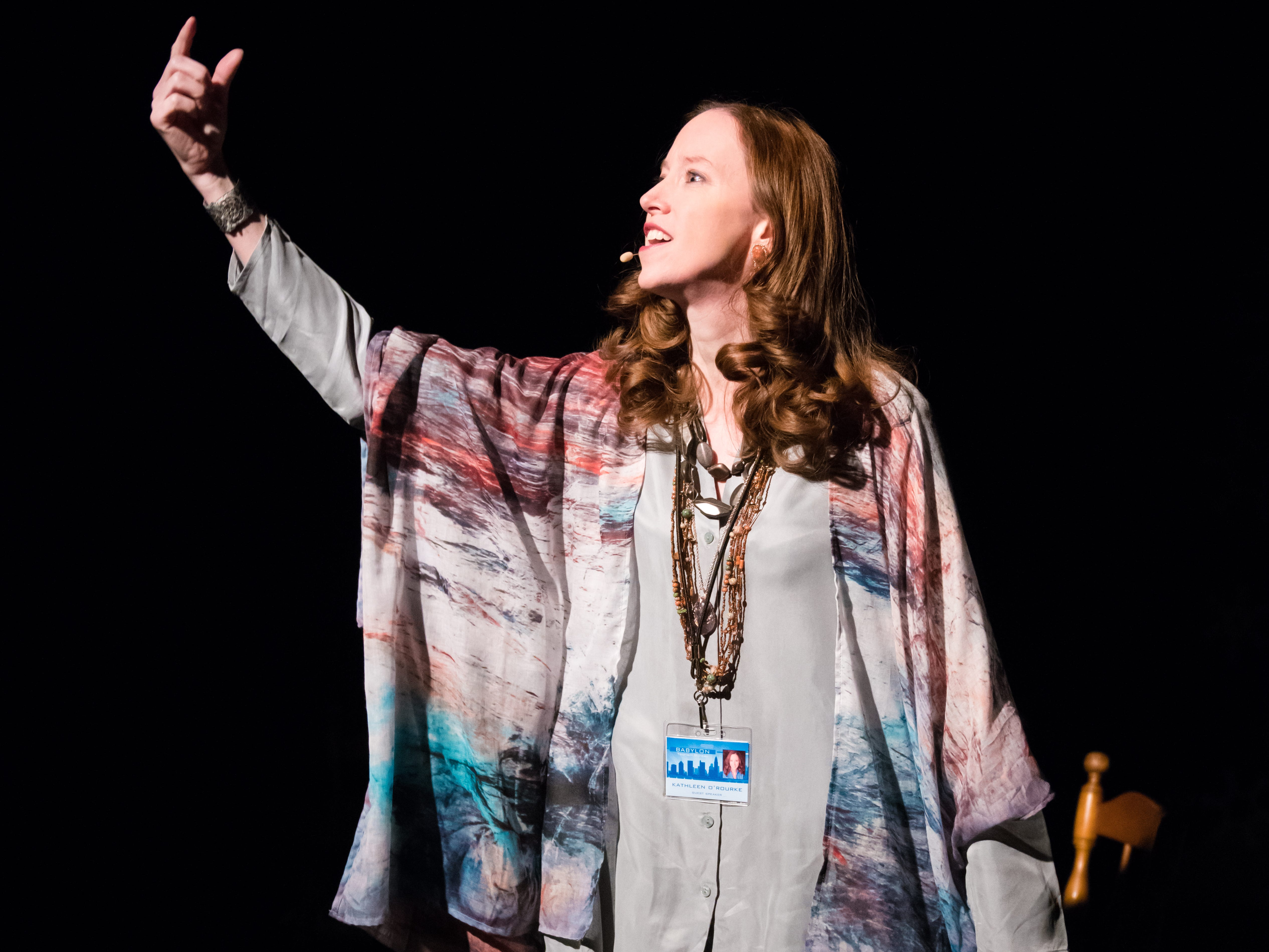 """Laura Gray performs in """"Christmas in Babylon,"""" presented by Milwaukee Chamber Theatre."""