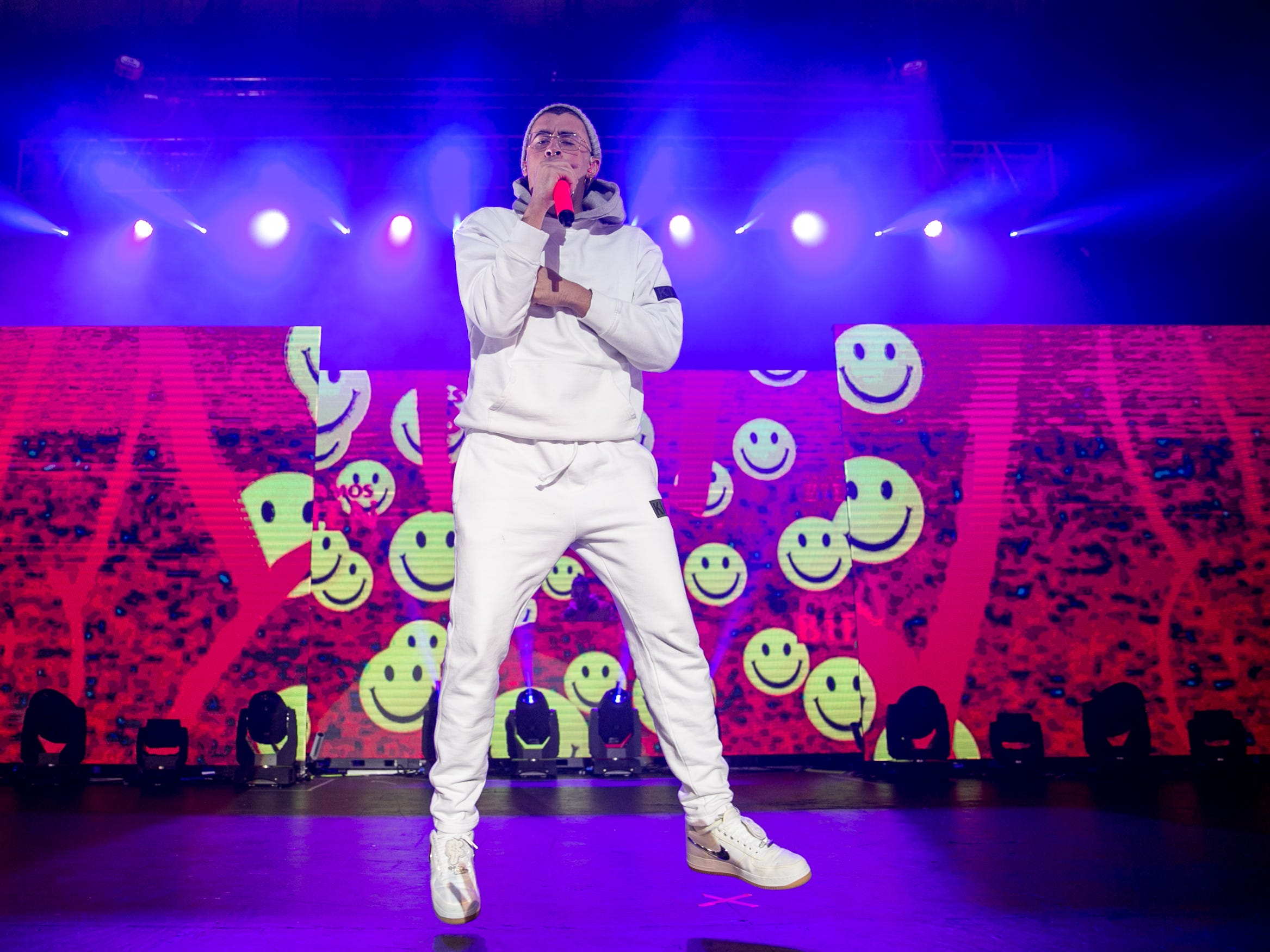 Bad Bunny performs at the Rave's Eagles Ballroom Friday.
