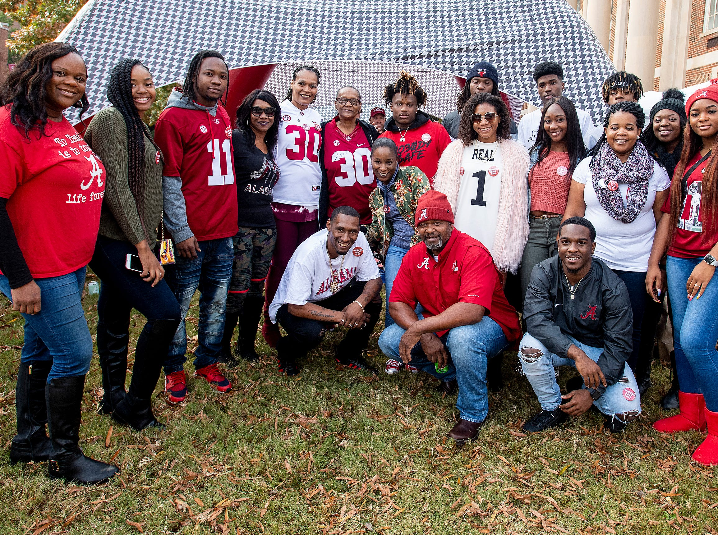The Ruggs family and the Wilson family tailgate together before the Iron Bowl in Tuscaloosa, Ala., on Saturday November 24, 2018.