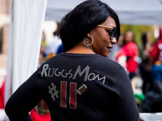 Nataki Ruggs, mother of Henry Ruggs, tailgates with the family of Mack Wilson tailgate together before the Iron Bowl in Tuscaloosa, Ala., on Saturday November 24, 2018.