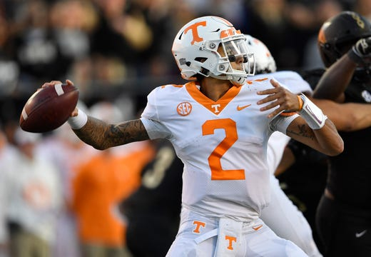 1d49ab38 ESPN: Jarrett Guarantano can break out for Tennessee Vols football